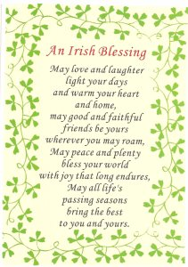 Irish prayer and blessing